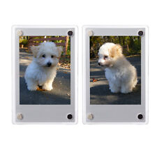 2 PCS Clear Fridge Magnetic Frame 60x90mm-Fuji Mini 9 8 8+ 70 7s Polaroid Film