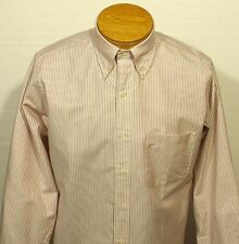 NWOT men's USA made Brooks Brothers Makers dress shirt striped cotton 15 - 33