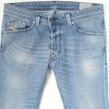 Mens Diesel DARRON 0842H Stretch Slim Tapered Blue Jeans W32 L32