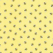 Honey Bees on Honey Comb cotton Quilt fabric BTY Timeless Treasures Yellow