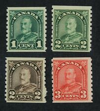 Ckstamps: Canada Stamps Collection Scott#179/183 Mint H Og #182 Spot Thin