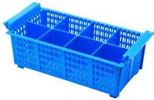 More details for commercial dishwasher rack cutlery basket cutlery rack 8 division 425x210x130mm