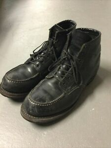 RED WING 9015 Men's Size 10 D Black Leather HERITAGE BECKMAN Moc Toe Boots