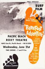 """Barefoot Adventure"" 1961 ""Bruce Brown"" Surf/documentary movie poster/handbill"