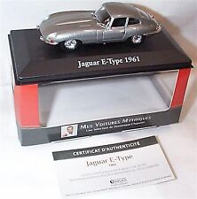 Jaguar E type 1961 in Silver 1-43 scale Cars Collection New in case boxed