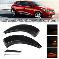 For Renault Captur Clio IV Mk4 Dynamic LED Side Wing Mirror Indicator Light