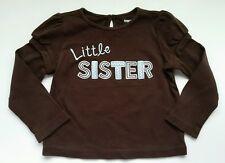 Gymboree Girls Best Friend Size 3T Shirt Little Sister Brown Blue Long T