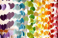 10ft Love heart paper garlands wedding baby shower balloon tail party decoration