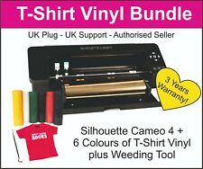 Silhouette Cameo 4 Cutter - BLACK EDITION - UK Stock - T-Shirt Vinyl & Hook Tool