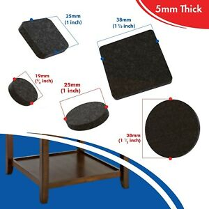 Furniture Felt Pads for Chairs & Tables to Protect your Flooring Brown 5mm Thick