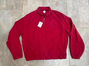 NEW NOS Vintage POLO Ralph Lauren RED Made In USA Harrington Jacket Men XXL