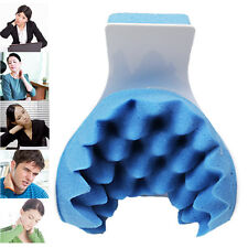 Real Ease Neck Pillow Support Shoulder Jaw Relaxer Relieves Muscle Tension Blue
