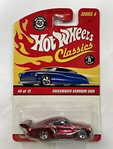 ~NEW~ 2004 HOT WHEELS CLASSICS - Series 4-Volkswagen Karmann Ghia Red #6/30