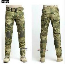 Mens Tactical Military Motorbike Knee Pad Overall Camo Combat Long Pant Trousers