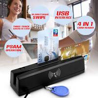 YL160 4-in-1 Magnetstreifen Kreditkarte EMV IC Chip RFID PSAM Reader Writer  #