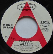 ARGENT: Tragedy / Hes a Dynamo EPIC promo DJ 45 rare ROCK