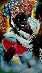 Original Art Painting NINO CORDERO  Oil Canvas  Cuban Art Cuba YOANDRIS PEREZ