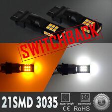 Bi-Color LED 3757 White Parking|Yellow Turn Signal Light Bulb,2IN1 Flashback 2X