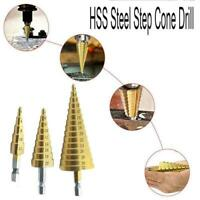HSS Step Cone Drill Titanium Steel Metal Hole Bit 4-32mm V7V0
