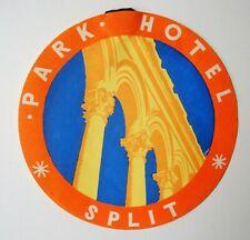 Étiquette bagage Park Hôtel Split. - Années 50.