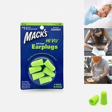 Mack's Hi Viz* Soft Foam Earplugs, 3 Pair - Ear Plugs Anti Noise Snore for Sleep