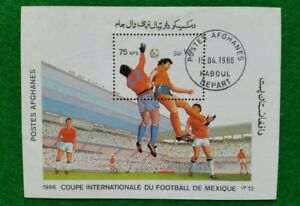 1986 Football World Cup - Mexico 1986 Stamps Block Afghanistan
