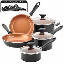 Copper Ceramic Nonstick 14pc Cookware Set by Farberware