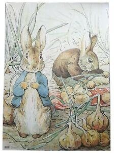 Beatrix Potter Peter Rabbit & Benjamin Bunny Gift Wrap Wrapping Paper or Card
