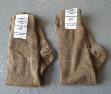 MEN'S THIN KHAKI WOOL / NYLON SOCKS - Size: 6-7 , Pack of 2 , British Army NEW
