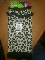 Vibrant LIfe Leopard Animal Print Dog Sweater Dress Sz Medium Black Brown Beige