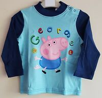 PEPPA PIG GEORGE PIG / WITH DINOSAUR BOYS/CHILDREN'S T-SHIRT - SHORT/LONG SLEEVE