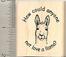 Love a Llama Rubber Stamp Wood Mounted E7705 stamps
