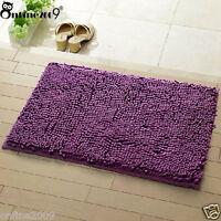 Memory Soft Shaggy Nonslip Absorbent Bath Mat Bathroom Shower Rugs Carpet Purple
