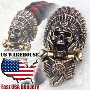 CooB Paracord Buckle Shackle Clasp Lock Bead INDIAN SKULL for Paracord Bracelet