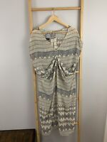 Shona Joy Size AU 12 / M US 8 Sheer Chiffon Aztec Kimono Dress Dolman LY
