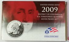 2009 US Mint SILVER Proof State/Territory Quarters Set 5 Gem Coins w/ Box & COA