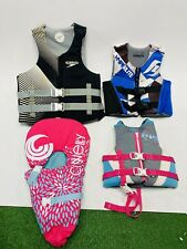 New listing Lot of 4 Neoprene Life Jackets Vests Infant Child Youth Adult Boat Water Ski