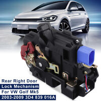 RH Rear Right Door Lock Actuator Mechanism Kit For VW Golf Mk5 Jetta Mk3