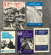 Vintage model railway 1960's booklets x 5-Handbooks & Guide, Plans & Catalogue