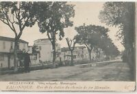 GREECE 1917 THESSALONIKI  STREET WAY MONASTIR
