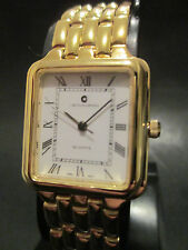 A90 NEW JB CHAMPION Gold Dress Stainless Steel Band WATCH Square VINTAGE Dress