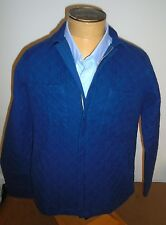 Gant Rugger 100% Cotton Indigo Twill Quilted Ranchers Jacket NWT Medium $225