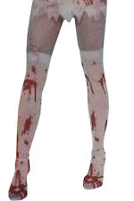 Halloween Ladies/girls White Bloody Stocking Ideal for Blood Stained Fancy Dress