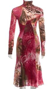 SALE!  Gorgeous!!! Roberto Cavalli ITALY floral dress size 40-42   $980.00 OFF!