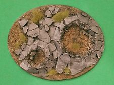 Warhammer 40K Large Oval Resin Rock Base #2