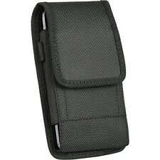Samsung Galaxy S5 G900A ,Large Nylon Canvas Pouch Case Holster Belt Clip + Hook