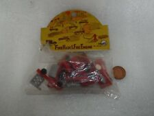Vintage Fire Hose & Fire Engine Plastic Trucks Made In Hong Kong No 9998, Unused