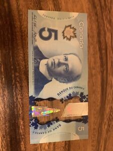 CANADA 5 DOLLARS Banknotes, Used Condition, Canadian, Bank Note, Single Note H