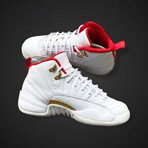 Nike Air Jordan 12 XII Retro GS White/University Red 153265-107 Size 7Y FIBA