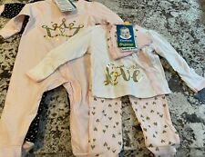 NWT 5 PIECE BABY GIRL GERBER ORGANIC COTTON CLOTHING LOT SIZE 3-6 MONTHS